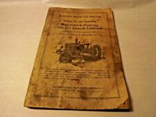 IH McCormick-Deering Farmall Cultivator HM-221 Instruction Manual & Parts List