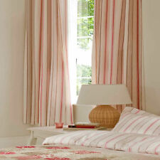 Catherine Lansfield Province Stripe 168x183 Lined Curtains Matches Bed Set