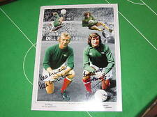 Arsenal FC 'Keepers Bob Wilson & Pat Jennings Dual Signed Montage