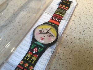 "Swatch SUOB 137 ""Russian Beauty"" 41mm Swiss Watch, New Old Stock"