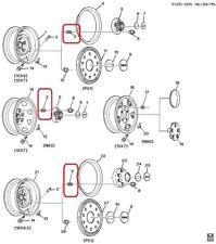 (1) GENUINE GM 09591772 Hub / Lug Nut Metric (M14X1.5)(M27X2 External Thread)