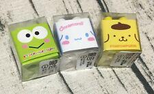 Cute Sanrio Cinnamoroll Pompompurin Kerokerokeroppi Erasers Toy Building Block