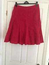 Monsoon  Hot Pink Linen & Cotton Swirl Skirt  Fully Lined Size 12