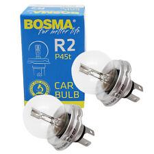 2 x Lampe Bosma R2 P45T 12V 45/40W Bilux Halogen Premium Kugellampe E-Geprüft