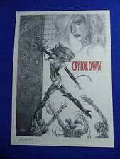 ~~ LINSNER ~  CRY FOR DAWN PRINT SIGNED! JOE MONKS ~1993~