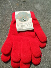 Out Brook Ladies Fashion Red Stretch Knit Gloves One Size Fits All