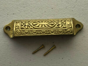 VINTAGE LOOK SOLID CAST BRASS DRAWER PULL HANDLE