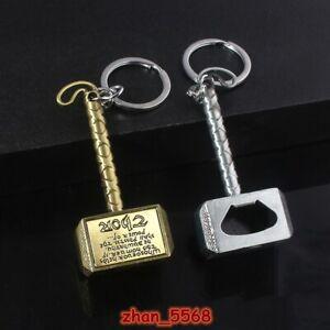 Marvel The Avengers Thor Hammer Mjolnir Alloy Keychain Key Chains Bottle Opener