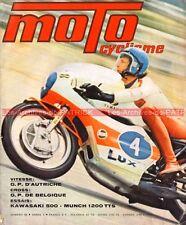MOTOCYCLISME 48 KAWASAKI 500 Mach III MUNCH 1200 TTS Mammuth PEUGEOT GT 10 1973