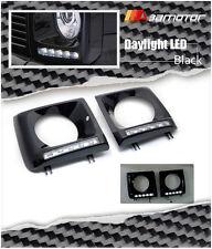 Black Headlight Cover 5 LED Daytime Running Lamp for 90-13 W463 Mercedes G-Class