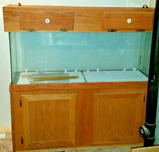 55 Gal/Gallon Aquarium Fish Tank with Oak Wood Stand and Top   LOCAL PICKUP ONLY