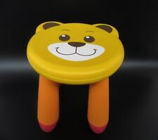 1X Bear Kids Toddler Children Plastic Round Play Stool Chair