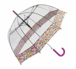 ShedRain Bubble Umbrella, Automatic Open, Purple/Clear - NEW