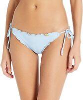 Luli Fama 180228 Womens Full Coverage Bikini Bottom Swimwear Cielo Size Medium