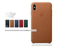 Sattelbraun Apple Original Case Leder Tasche Schutzhülle für iPhone XS Max