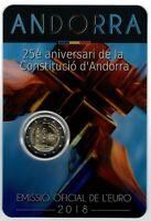 Set Cartera oficial Andorra 2018 25 Aniversario Constitucion monedas 2 euros
