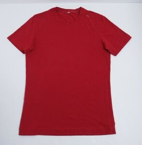 Lululemon Men's Cotton Short Sleeve T-Shirt Size small Red Four Way Stretch