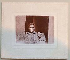 Charming small Cabinet Card Black woman stripe bouse puffy sleeves found Atlanta