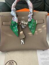 Hermès Birkin 30 bag Epsom Etoupe with Silver Hardware (very rare)