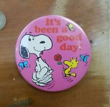 """Vintage Peanuts Mirror with Snoopy and Woodstock """"It's Been a Good Day!"""""""
