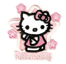 Hello Kitty Pink Star Cartoon Emo Embroidery Iron on Patches