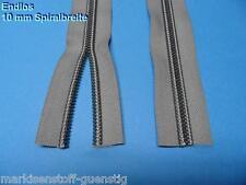 Persenning Reißverschluss Endlos Breite 40 mm Spiralbreite 10 mm Grau Neu 10002