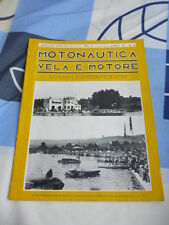 MOTONAUTICA VELA E MOTORE N. 8 AGOSTO  1938