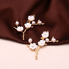 10Pc Pearl Shell Flower Branch Accessories Diy Antique Bride Hairpin Accessories