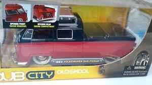 JADA TOYS 1:24 - 1963 Volkswagen Pickup - DUB CITY - OLD SKOOL - 2006 - Preowned