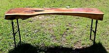 Cedar Slab Live Edge Coffee Table Handcrafted Rustic Pipe Legs Reclaimed Salvage