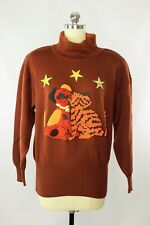 Vintage 1980s Escada 'Friends' Cat and Dog Wool Pullover Sweater, Size 36 / S 2