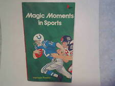 1983 MAGIC MOMENTS IN SPORTS PAPERBACK,colts giants 1958,ali,larsen,bobby riggs