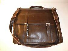 Wilson Leather Briefcase Brown Messenger Bag Laptop Commuter Soft