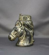 CMC Horse Head Table Lighter Occupied Japan Silver Plated Flip Up PKS