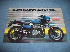 """1984 Honda Nighthawk S Vintage 2pg Color Ad """"That's Exactly How We Feel"""""""