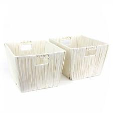 Hudson Storage Basket White - Set of 2