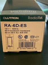 Lutron RadioRA 600W Incandescent Dimmer Egg Shell RA-6D-ES New in Box