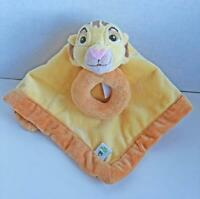 Disney Baby Simba Security Blanket with Ring Rattle Lion King Lovey Plush Yellow
