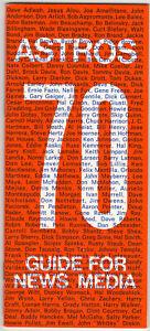 1970 Houston Astros Baseball Media Guide Joe Morgan Cesar Cedeno Joe Pepitone 70