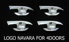 For Nissan Navara NP300 Chrome Door Handle Insert Bowl Cup Trim Cover 2015-16 17