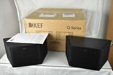 Pair KEF Q800ds Loudspeakers Black Grills Surround Sound Dipole w/Box & Manual