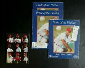 LOT PA PHILADELPHIA PRIDE OF THE PHILLIES TOM FLASH GORDON TICKETS 2019 YEARBOOK