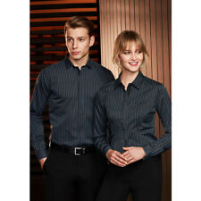 10x BIZ COLLECTION Mens Reno Stripe Long Sleeve Shirt S415ML LEISURE/CORPORATE M