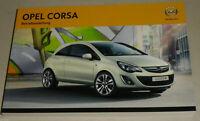 Betriebsanleitung Handbuch Opel Corsa D, Baujahre 2011 - 2014