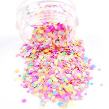 Nail Sequins Colorful Round Paillette Glitter Dust Powder 3D Nail Art Decoration