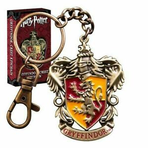 Harry Potter Hogwarts Gryffindor House Crest Metal Keychain Keyring - Boxed