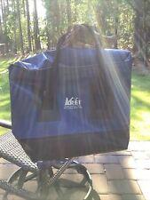Vintage ReiDry Gear Bag Waterproof Vinyl Backpack Blue Large Rafting Boating