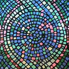 Mosaic Static Window Cling, Film Privacy/Decorative, Multi-Colored, Stain Glass