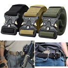MEN Casual Military Belt Tactical Army Adjustable Police Quick Release Belts USA