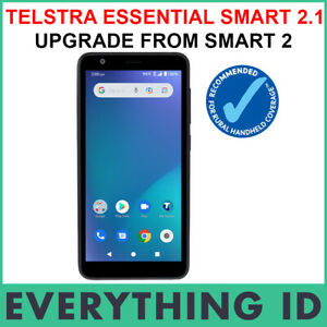 """TELSTRA ESSENTIAL SMART 2.1 32GB 5"""" BLACK 4G 4GX ANDROID BLUE TICK MOBILE PHONE"""
